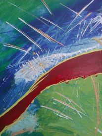Frisch, Abstrakt, Acrylmalerei, Frühling