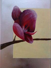 Blumen, Orchidee, Malerei, Triptychon