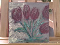 Blumen, Tulpen, Malerei, Natur