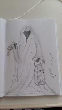 Zeichnung, Angst, Schlüssel, Dunkel