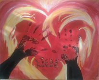 Feuer, Orange, Rot schwarz, Licht