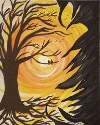 Wurzel, Angst, Vogel, Baum
