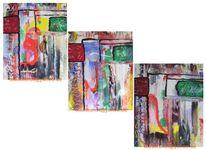 Tür, Acrylmalerei, Bunt, Abstrakt