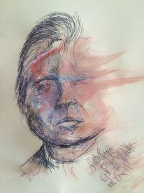 Zeichnung, Person, Portrait, Skizze