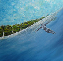 Wasser, Blau, Schwimmen, Palmen
