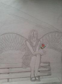 Fantasie, Fabel, Engel, Zeichnungen