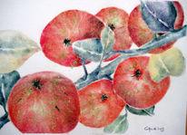 Apfel, Malerei, Baum, Versuchung
