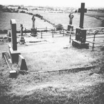 Irland, Schwarzweiß, Natur, Friedhof