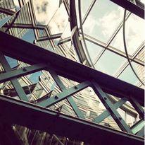 Innenarchitektur, Architektur, Spiegelung, Glas