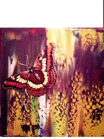 Insekten, Schmetterling, Modern, Malarei