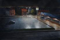 Aquarellmalerei, Nacht, Schatten, Licht