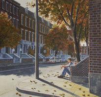 Herbst, Licht, Braun, Straße