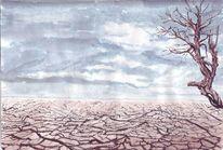 Versengt, Wüste, Baum, Kahl