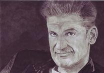 Portrait, Mann, Tusche, Zeichnungen