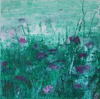 Blumen, Surreal, Gras, Pflanzen