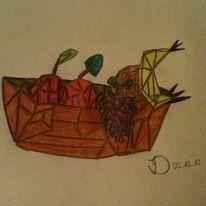 Weintrauben, Abstrakt, Obst, Orange