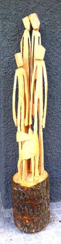 Kettensäge holzskulptur, Plastik