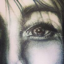Gesicht, Augen, Realismus, Bleistiftzeichnung
