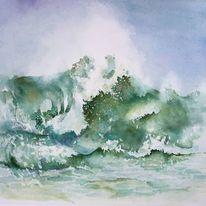 Gischt, Schönheit, Romantisch, Meer