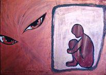 Abstrakt, Augen, Gestalt, Malerei