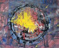 Urknall, Abstrakt, Explosion, Malerei