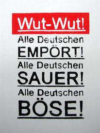 Wut, Boulevard, Deutsch, Böse