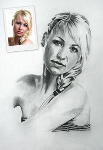 Zeichnung, Portraitzeichnung, Zeichnungen,