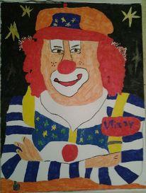 Filz, Clown, Menschen, Portrait