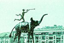 Marseille, Fanfare, Frankreich, Elefant