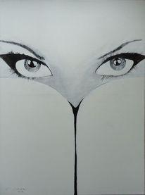 Malerei, Zyklus, Menschen, Augen