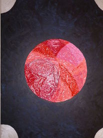 Planet, Rot, Malerei