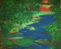 Hübsch, Wasser, Grün, Landschaft