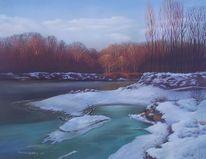Malerei, Pastellmalerei, Winter