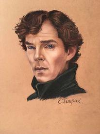 Sherlock holmes, Frieden, Portrait, Malerei