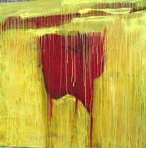 Harmonie, Malerei, Gelb, Rot