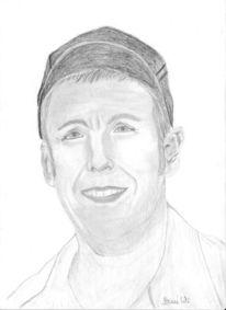 Sandler, Realismus, Bleistiftzeichnung, Portrait