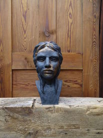 Statuette, Keramik, Frau, Statue