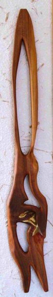 Namenlos, Abstrakt, Skulptur holzobjekt, Kunsthandwerk