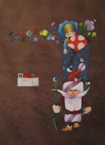 Ölmalerei, Modern, Pop art, Stadt