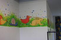 Wandmalerei, Tiere, Kinder, Malerei