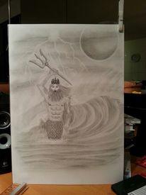Blitz, Wassermann, Wasser, Welle