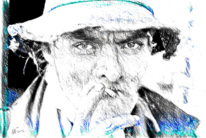 Menschen, Mann, Hut, Zigarette
