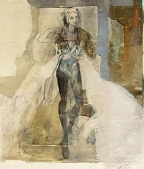 Kostüm, Collage, Figur, Model
