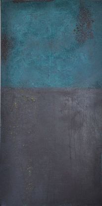 Abstrakte malerei, Aubergine, Mischtechnik, Acrylmalerei