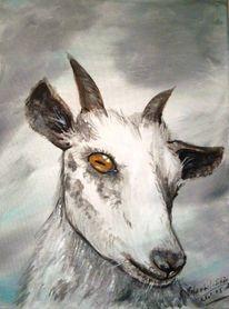 Tiere, Acrylmalerei, Gemälde, Kälte