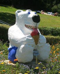 Tiere, Eisbär, Bär, Beton
