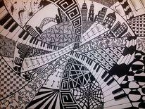 Tusche, Zeichnung, Schwarz weiß, Zeichnungen
