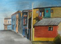 Haus, Pastellmalerei, Argentinien, Malerei