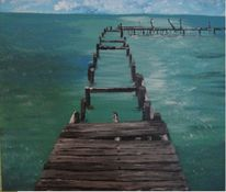 Acrylmalerei, Malerei, Landschaft, Mexiko