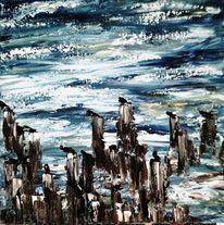Acrylmalerei, Abstrakt, Urlaub, Meer